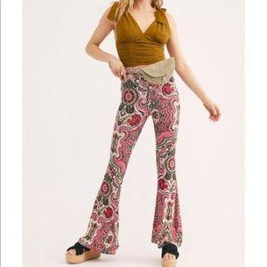 Free People Harper Printed Pull On Pants